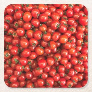 Porta-copo De Papel Quadrado Tomate Coster