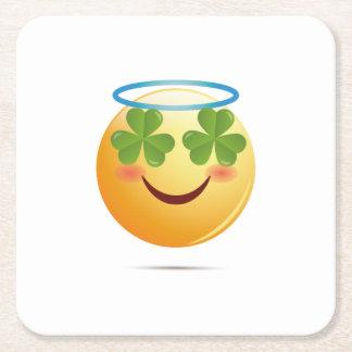 Porta-copo De Papel Quadrado Tombadilho de Emoji do dia de St Patrick para