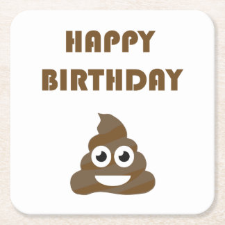 Porta-copo De Papel Quadrado Tombadilho feliz bonito engraçado Emoji da festa