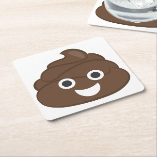 Porta-copo De Papel Quadrado Tombadilho parvo louco Emoji de Brown