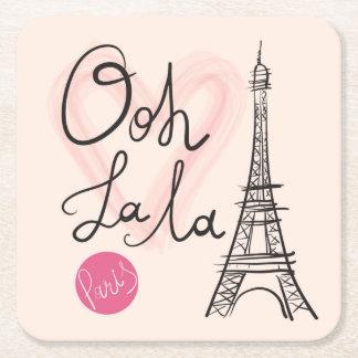 Porta-copo De Papel Quadrado Torre Eiffel tirada mão
