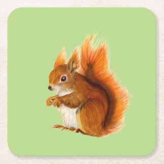Porta-copo De Papel Quadrado Trabalhos de arte dos animais selvagens da pintura