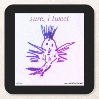 Porta-copo De Papel Quadrado uma porta copos para o amante do pássaro