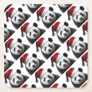 Porta-copo De Papel Quadrado Urso de panda do Natal