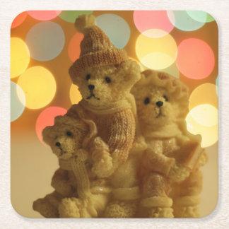 Porta-copo De Papel Quadrado Ursos do feriado