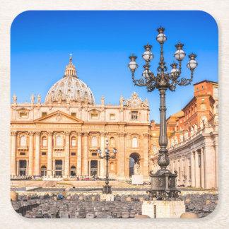 Porta-copo De Papel Quadrado Vaticano quadrado feito sob encomenda das portas