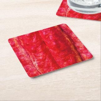 Porta-copo De Papel Quadrado vermelho do vagem do cacau
