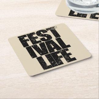 Porta-copo De Papel Quadrado VIDA do FESTIVAL (preto)