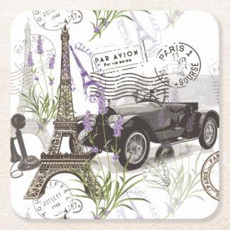 Porta-copo De Papel Quadrado Vintage Paris