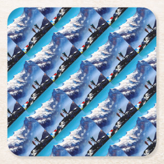 Porta-copo De Papel Quadrado Vista panorâmica da montanha máxima de Ama Dablam