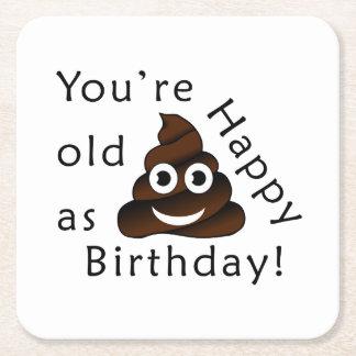 Porta-copo De Papel Quadrado Você é idoso como… o emoji engraçado do tombadilho
