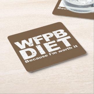 Porta-copo De Papel Quadrado WFPB que eu valer a pena (branco)