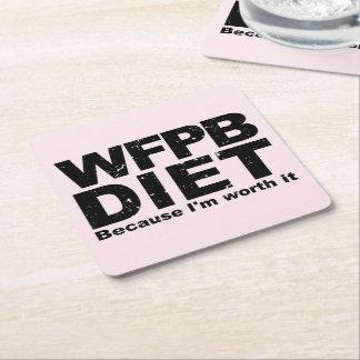 Porta-copo De Papel Quadrado WFPB que eu valer a pena (o preto)