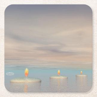 Porta-copo De Papel Quadrado z+Etapas da vela - 3D rendem