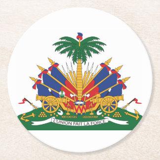 Porta-copo De Papel Redondo A brasão de Haiti