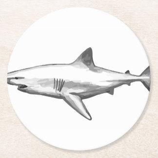 Porta-copo De Papel Redondo A casa do escritório do tubarão personaliza