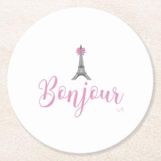 Porta-copo De Papel Redondo Arco da torre de Bonjour-Eiffel original
