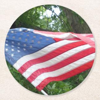 Porta-copo De Papel Redondo Bandeira americana