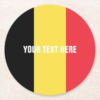 Porta-copo De Papel Redondo Bandeira belga de portas copos da bebida do papel