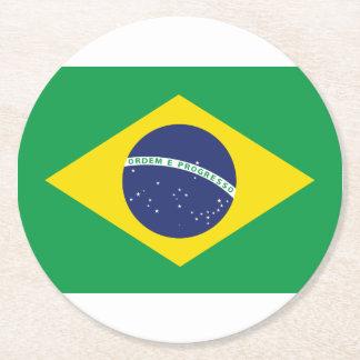 Porta-copo De Papel Redondo Bandeira brasileira