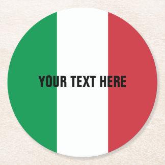 Porta-copo De Papel Redondo Bandeira italiana de portas copos de papel feitas