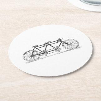 Porta-copo De Papel Redondo Bicicleta do vintage construída para