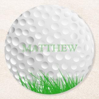 Porta-copo De Papel Redondo Bola de golfe personalizada na grama