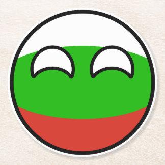 Porta-copo De Papel Redondo Bulgária Geeky de tensão engraçada Countryball
