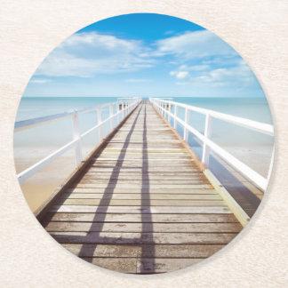 Porta-copo De Papel Redondo Cais tropical da praia