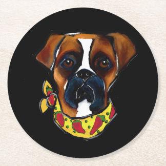 Porta-copo De Papel Redondo Cão Cinco de Mayo do pugilista