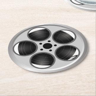 Porta-copo De Papel Redondo Carretel de filme do filme do teatro de casa