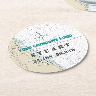 Porta-copo De Papel Redondo Carta relativa à promoção de FLORIDA da longitude