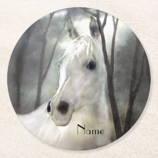 Porta-copo De Papel Redondo Cavalo branco
