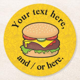 Porta-copo De Papel Redondo Cheeseburger