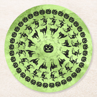 Porta-copo De Papel Redondo Círculos da arte da pia batismal do divertimento