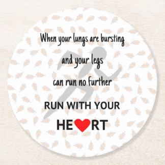 Porta-copo De Papel Redondo Citações inspiradores Running dos esportes