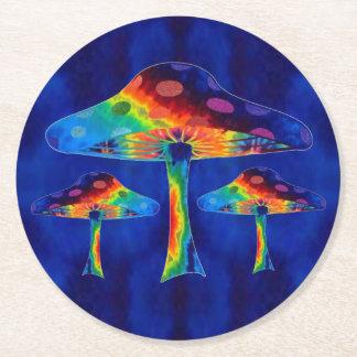 Porta-copo De Papel Redondo Cogumelos mágicos