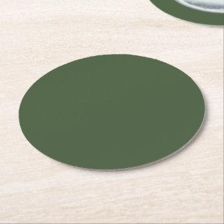 Porta-copo De Papel Redondo Cor sólida de Forest Green