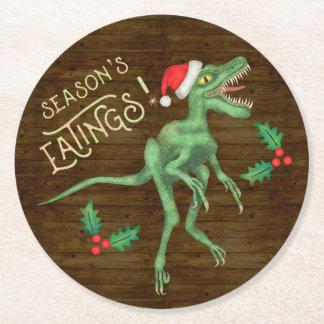 Porta-copo De Papel Redondo Dinossauro engraçado Eatings do Velociraptor do