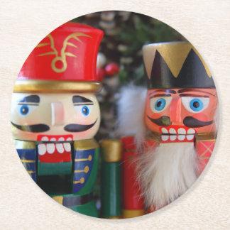 Porta-copo De Papel Redondo Dois nutcrackers
