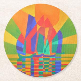 Porta-copo De Papel Redondo Dreamboat - sucata do Cubist em cores preliminares