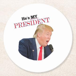 Porta-copo De Papel Redondo É meu presidente Donald J. Trunfo