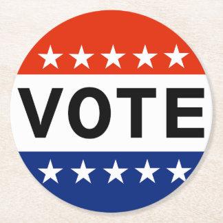 Porta-copo De Papel Redondo Eleições Midterm do voto 2018