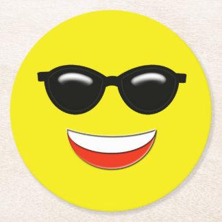 Porta-copo De Papel Redondo Emoji frio