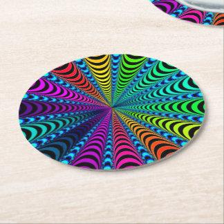 Porta-copo De Papel Redondo Espiral do ESPECTRO, ilusão visual,