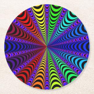 Porta-copo De Papel Redondo Espiral do ESPECTRO, ilusão visual, arco-íris/roxo