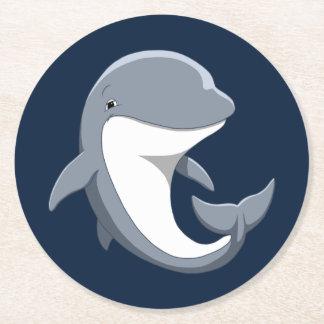 Porta-copo De Papel Redondo Eu amo o Bottlenose bonito dos golfinhos