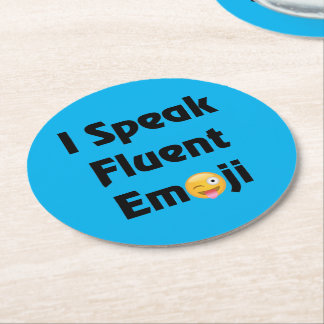 Porta-copo De Papel Redondo Fale Emoji fluente