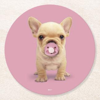 Porta-copo De Papel Redondo Filhote de cachorro bonito com Pacifier