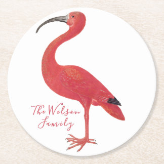 Porta-copo De Papel Redondo Flamingo - belas artes personalizadas